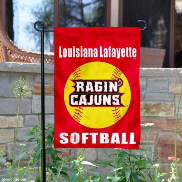 Louisiana Ragin Cajuns Softball Garden Flag