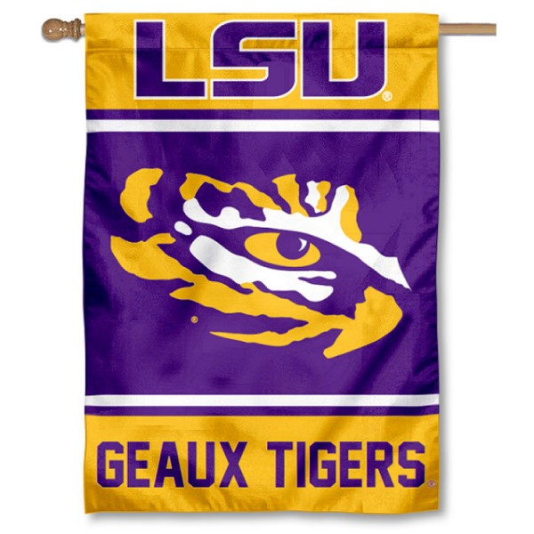 Louisiana State LSU Tigers House Flag