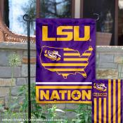 Louisiana State LSU Tigers Nation Garden Flag