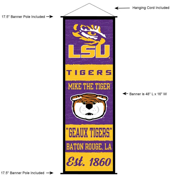 Louisiana State LSU Tigers Wall Banner and Door Scroll