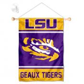 Louisiana State LSU Tigers Window Hanging Banner with Suction Cup