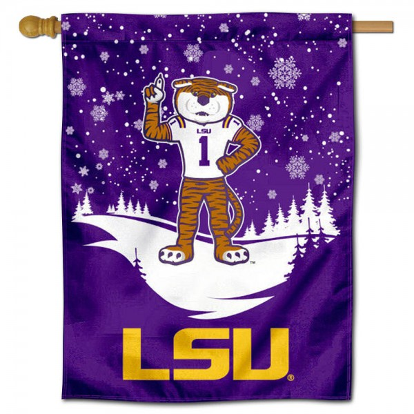 Louisiana State Mike the Tiger Winter Banner Flag