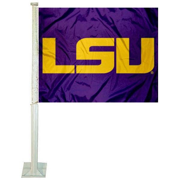 Louisiana State Purple Car Flag