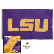 Louisiana State Tigers Appliqued Nylon Flag