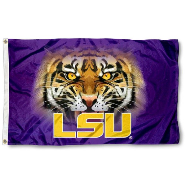Louisiana State Tigers Eyes Flag