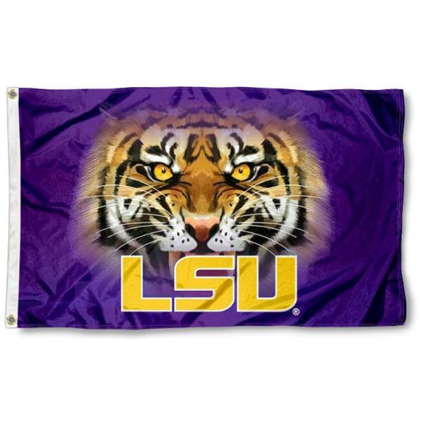 Louisiana State Tigers Eyes Flag