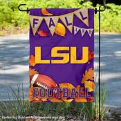 Louisiana State Tigers Fall Leaves Football Double Sided Garden Banner