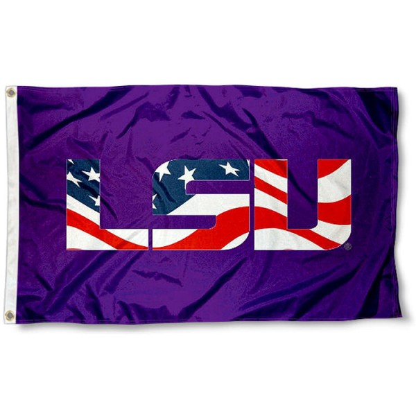 Louisiana State Tigers Stars and Stripes Flag