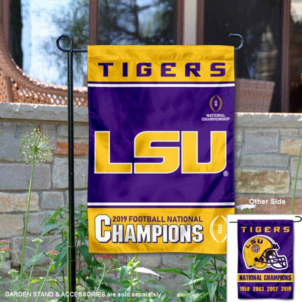 Louisiana State University 2019 and 4 Time Champions Double Sided Garden Flag