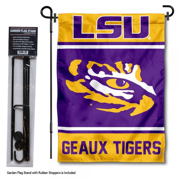 Louisiana State University Garden Flag and Yard Pole Holder Set