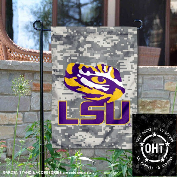 Louisiana State University Operation Hat Trick OHT Double Sided Garden Flag