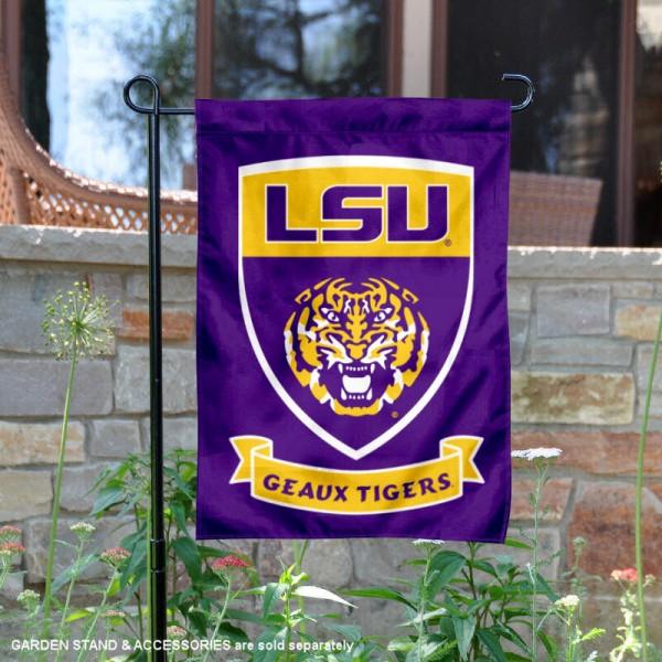 Louisiana State University Two Sided Shield Garden Banner