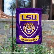 Louisiana State University Two Sided Shield Garden Banner