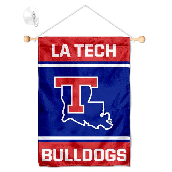 Louisiana Tech Bulldogs Window Hanging Banner with Suction Cup