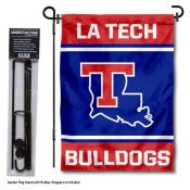 Louisiana Tech University Garden Flag and Yard Pole Holder Set