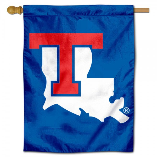 Louisiana Tech University House Flag