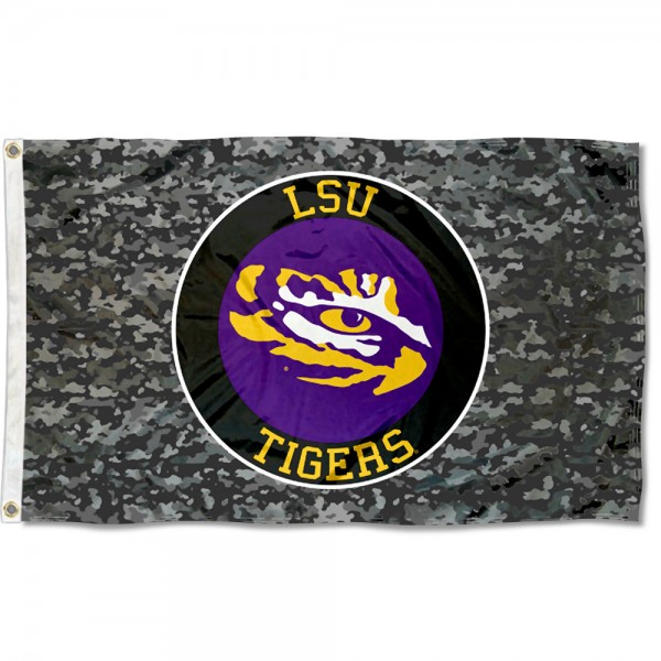 Louisiania State Tigers Camouflage 3x5 Foot Flag