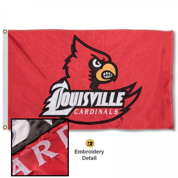 Louisville Cardinals Appliqued Nylon Flag