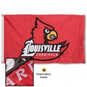 Louisville Cardinals Appliqued Nylon Flag