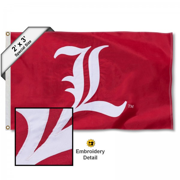 Louisville Cardinals Embroidered 2x3 Foot Flag