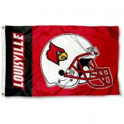 Louisville Cardinals Football Helmet Flag