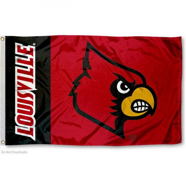 Louisville Cardinals Logo Flag