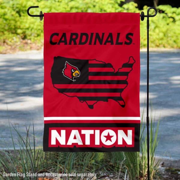Louisville Cardinals Nation Garden Flag