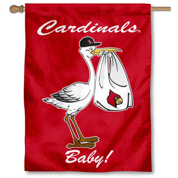 Louisville Cardinals New Baby Banner