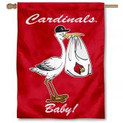 Louisville Cardinals New Baby Banner