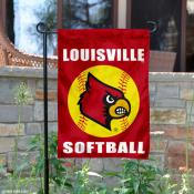 Louisville Cardinals Softball Garden Flag