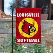 Louisville Cardinals Softball Garden Flag