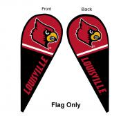 Louisville Cardinals Teardrop Flag