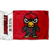 Louisville Cardinals Tokyodachi Cartoon Mascot Flag