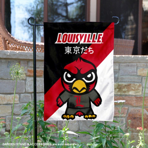Louisville Cardinals Yuru Chara Tokyo Dachi Garden Flag