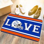 LOVE Football Floor Mat for Boise State University Broncos