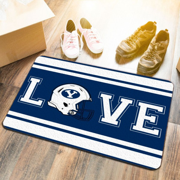 LOVE Football Floor Mat for Brigham Young University Cougars