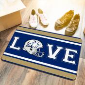 LOVE Football Floor Mat for Montana State University Bobcats