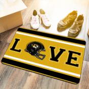 LOVE Football Floor Mat for University of Missouri Tigers