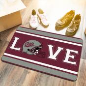 LOVE Football Floor Mat for University of Montana Grizzlies