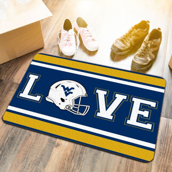 LOVE Football Floor Mat for West Virginia University Mountaineers