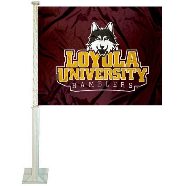 Loyola Chicago Ramblers Car Flag