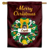 Loyola Chicago Ramblers Christmas Holiday House Flag