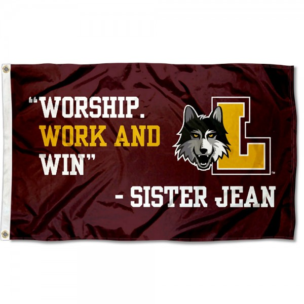 Loyola Chicago Ramblers Sister Jean Quote 3x5 Foot Flag