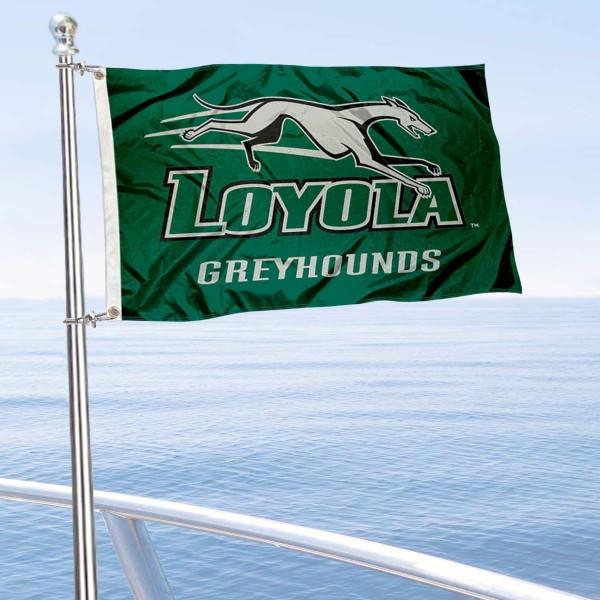 Loyola Greyhounds Boat Nautical Flag