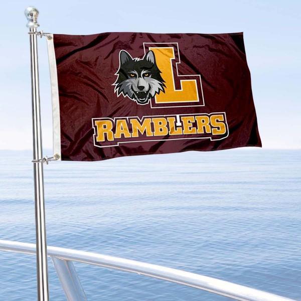 Loyola Ramblers Boat Nautical Flag