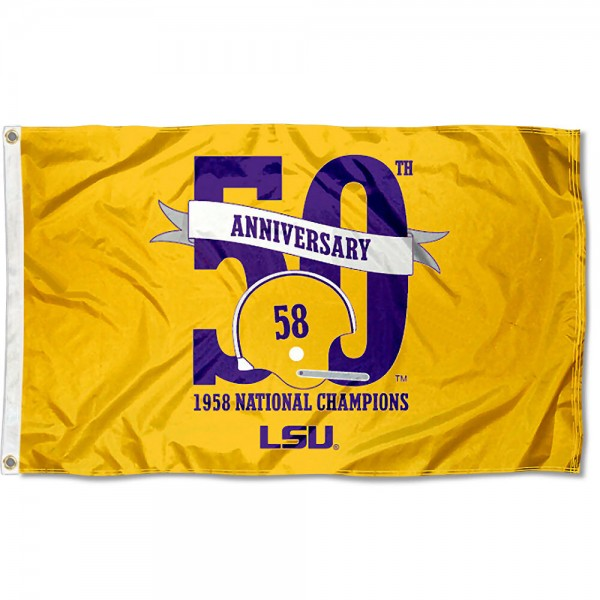 LSU 50th Anniversary 1958 Champs Flag