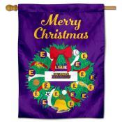 LSU Eunice Christmas Holiday House Flag