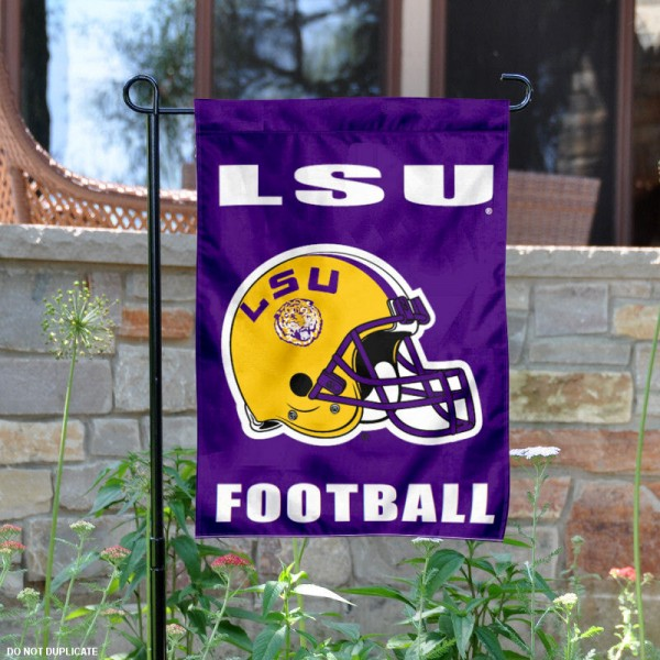 LSU Football Garden Flag