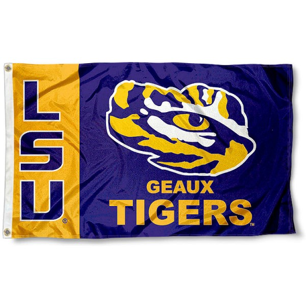 LSU Geaux Tigers Flag