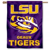 LSU Geaux Tigers  House Flag